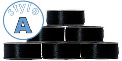 72 A size plastic-sided bobbins BLACK