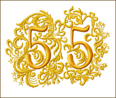 55th Anniversary Embroidery Design