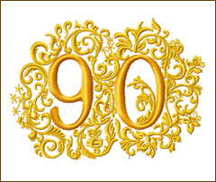 90th Anniversary Embroidery Design