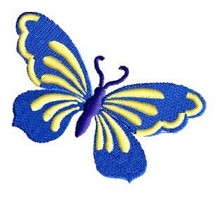 Вышивка гладью схемы бабочка для начинающих