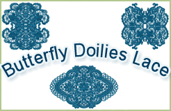 Laced Butterfly Doilies Емброидеры Десигнс
