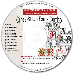 Cross Stitch Fonts Combo