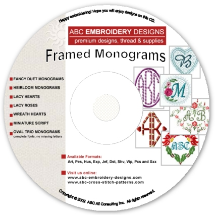 Framed Embroidery Monograms Combo