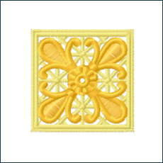 Square Coaster Embroidery Standalone Lace
