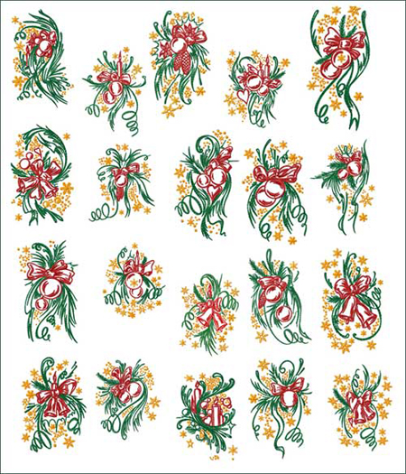 EMBROIDERY PATTERNS FOR CHRISTMAS  Embroidery Designs