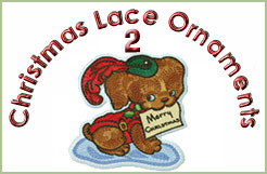 Christmas Lace Ornaments 2