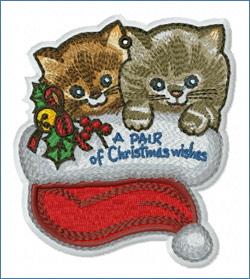 Pair of Christmas Wishes_embroidery design
