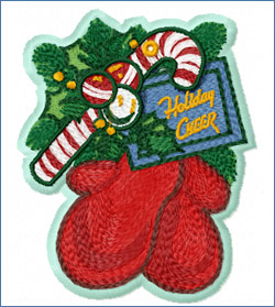 Santas Mittens_embroidery design