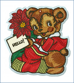 Teddy Bear_embroidery design