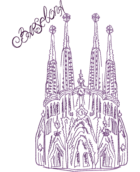 La-Sagrada-Familia Embroidery Designs
