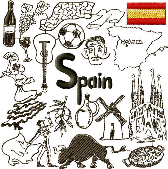 Spirit of Spain Embroidery Designs