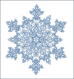 Snowflake 1 embroidery design