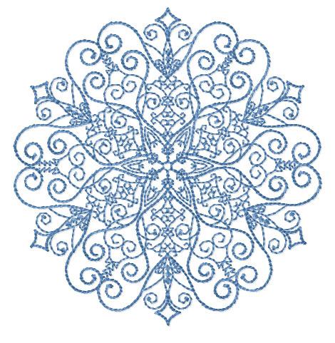 machine embroidery snowflakes