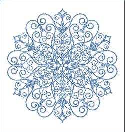 Snowflake 2 embroidery design