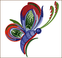 Dancing Butterfly 3 embroidery design