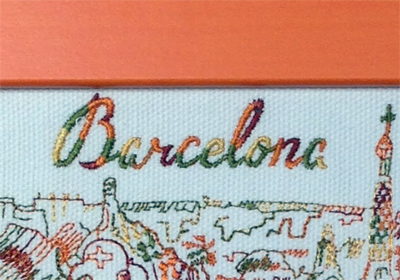 Picture Frame Embroidery Barcelona