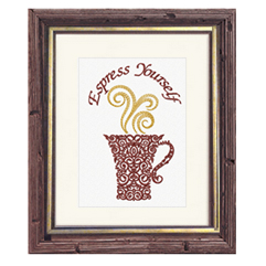 "Framed Art Embroidery ""Espress Yourself"""