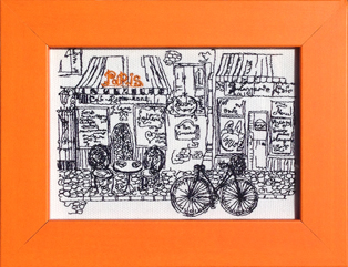 "Colori Orange Frame ""Paris Cafe"""