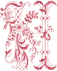 H from Enlaced Romance Initials