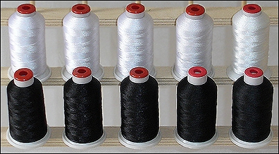 Black & White Cones Of Poly Thread