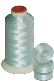 Matching 72 L Bobbins & 10 Thread - Baby Blue