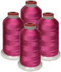 ThreaDelight  Rayon  Hot Pink  - 4 Cones Kit