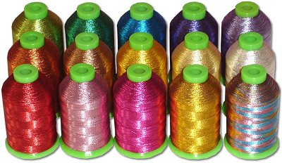ThreaDelight Metallic Embroidery Thread Kit - 15 colors
