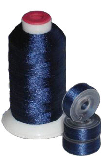 Matching 72 L Bobbins & 10 Thread - Navy Blue