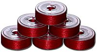 72 L Pre-Wound Plastic Sided Bobbins - Christmas Red (P533)