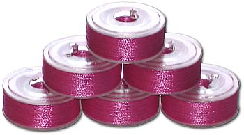 144 L Pre-Wound Plastic Sided Bobbins - Light Plum (P567)