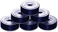 144 L Pre-Wound Plastic Sided Bobbins - Blueberry Blue (637)