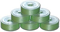 72 L Pre-Wound Plastic Sided Bobbins - Yellow Green LT (P719)