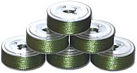72 L Pre-Wound Plastic Sided Bobbins - Insect Green (P721)