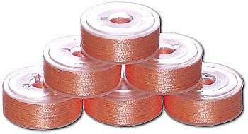 72 L Pre-Wound Plastic Sided Bobbins - Peach (P826)
