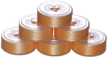 144 L Pre-Wound Plastic Sided Bobbins - Pale Beech Wood (P837)