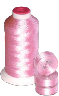 Matching 72 L Bobbins & 10 Thread - Pink