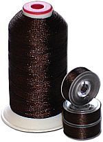 Matching Bobbins & Thread - Coffee Brown DK Color