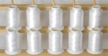 Bobbin Thread Kit 10 cones - White