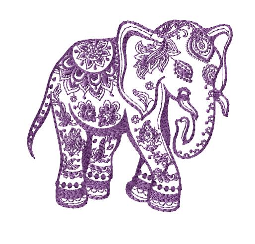 free elephant machine embroidery designs