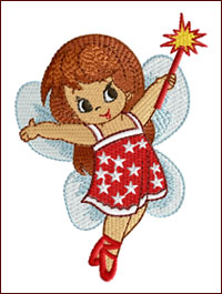 Fairy Bliss embroidery design
