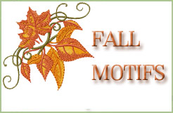 Fall Embroidery Designs