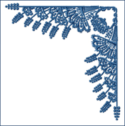 Corner Large embroidery design