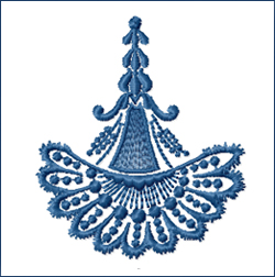 Flabellum embroidery design