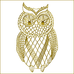 Golden Owl 3 embroidery design