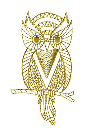 ABC Designs Golden Owls Machine Embroidery Designs SET 4