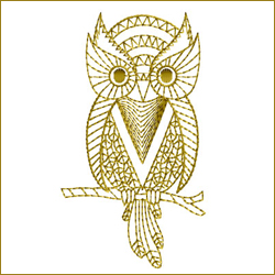 Golden Owl 4 embroidery design