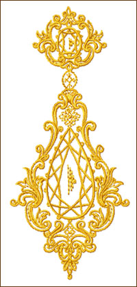 The Chandelier embroidery design