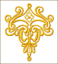 Crest embroidery design