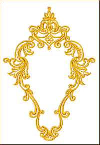 The Frame embroidery design
