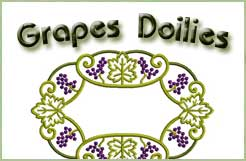 In-hoop Grape Doilies